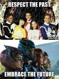 """Respect the past, embrace the future"" Power Rangers Memes, Power Rangers Fan Art, Original Power Rangers, Power Rangers 2017, Power Rangers Movie, Amy Jo Johnson, Batman, Mighty Morphin Power Rangers, Fandoms"