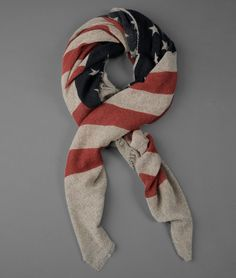 Vintage Cashmere Flag Scarf | John Varvatos Official Site: Shop Online