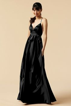 this dress makes me wish i had less of a chest!!  such a flirty cut!!  Watters bridesmaid