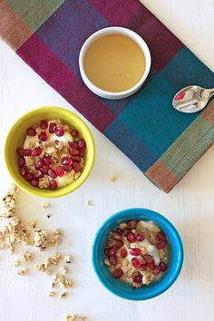 Parfait and how to peel a pomegranate by Sana Keefer
