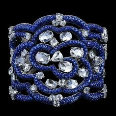 Fantastic sapphire and diamond cuff~ just extraordinary!