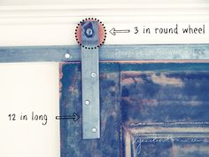 Free tutorial on barn door hardware and wood wheels for sale too! http://www.lynneknowlton.com/product/buy-wood-wheels/