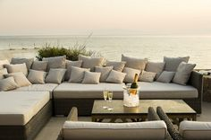 Beach side outdoor living area