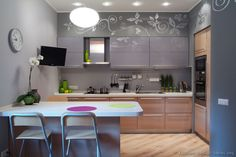 Kitchen Idea Of The Day Modern Gray Kitchens Grey Purple