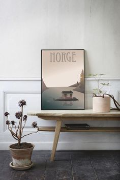 Norge Fiskerhuset plakat fra ViSSEVASSE med fiskehus i fjord Interior Decorating, Interior Design, Decorating Ideas, Cozy Corner, Nordic Design, Home And Living, Living Room, Decoration, Interior Architecture