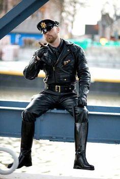 uniform boots fetish leather Smoking