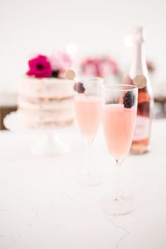 Serve pink champagne to indicate the festive nature of your romantic table.