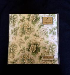 Bridal Shower Gift Wrap  Hallmark  White Green & Gold