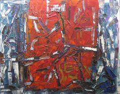 """Jean-Paul Riopelle  """"  1800 pieds d'altitude  """"    huile sur toile, 1969"""