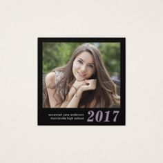 #name - #Graduation Name Cards Easy-Edit Photo Square
