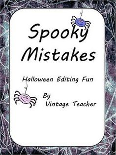 practice with capitalization, contractions, punctuation, and spelling with a little Halloween fun