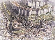 Artist's impression of the great siege of Dover Castle in 1216.