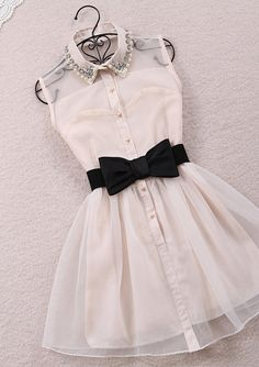 princessroxie's save of Fanewant — LAPEL GAUZE HIGH-WAISTED DRESSES on Wanelo   See more about black bows, bow belt and pearl diamond.