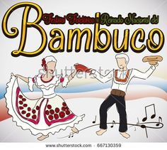 Poster with couple dancing the traditional Bambuco dance in the Colombian Bambuco Pageant and Folkloric Festival (written in Spanish). Folklore, Pageant, Dancing, Disney Characters, Fictional Characters, Spanish, Traditional, Couples, Poster