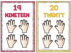 I added some small counting hands posters to 1 - 2 - 3 Learn Curriculum. They are attached to the number counting poster 1 - 20 under the assorted sheets link.