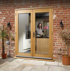 External french doors for outside patio. Our french double doors come in Oak, Hardwood, Glazed. We offer free delivery of external french doors in the UK. Glazed External Doors, External Oak Doors, External French Doors, French Door Curtains, French Doors Patio, Patio Doors, French Patio, French Windows, Types Of Timber