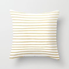 Buy Gold Paris Stripe Pattern by evannave as a high quality Throw Pillow. Worldwide shipping available at Society6.com. Just one of millions of products available.