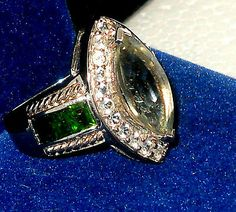 PRASIOLITE GREEN AMETHYST RUSSIAN CHROME DIOPSIDE RING size 7 CHRISTMAS http://www.ebay.com/cln/dalec22/Beautiful-Earrings/58480347018