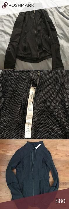 Lululemon zip up jacket Black zipup jacket with pockets lululemon athletica Jackets & Coats Utility Jackets