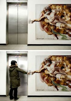 Comical Medical Murals - Dr. Kim's 'The Creation of Adam' Decal is Humorous
