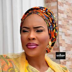 """All hail Alhaja Faithia @faithiawilliams! She looks stunning in this pic.  #facebeat #glammedbyomoge #omogestouch #promua #thefacechef"""