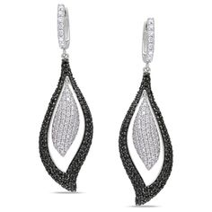 @Overstock.com - Miadora 14k Gold 3 1/2ct TDW Black and White Diamond Earrings (I-J, I1-I2) - These charming one-of-a-kind earrings from the Miadora Luxe Collection feature over 3 carats of round-cut black and white diamonds set in 14-karat white gold. These dangle earrings are secured with clip-in backs.    http://www.overstock.com/Jewelry-Watches/Miadora-14k-Gold-3-1-2ct-TDW-Black-and-White-Diamond-Earrings-I-J-I1-I2/7535351/product.html?CID=214117  $3,179.99