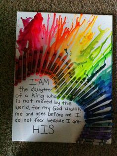 Melted crayon art that I did with Claire and cede:)