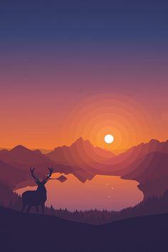 Deer before Sunset iPhone Wallpaper HD 2k Wallpaper, Iphone 6 Plus Wallpaper, Forest Wallpaper, Sunset Wallpaper, Apple Wallpaper, Laptop Wallpaper, Wallpaper Downloads, Mobile Wallpaper, Wallpaper Backgrounds