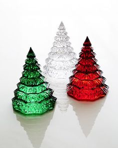 Christmas Tree Sculpture by Waterford - Have the clear, need the red and green, don't you think?