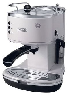DeLonghi - 15-Bar Pump-Driven Espresso Maker - White, ECO310W