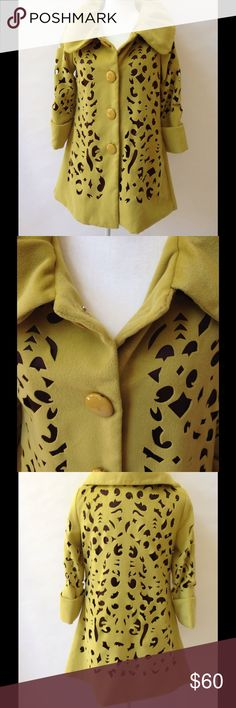 Beautiful, Unique Laser Cut Swing Coat This eye catching coat is such a stunner…