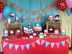 "Photo 8 of 17: Hello Kitty / Birthday ""Vintage Hello Kitty 5th Birthday""   Catch My Party"