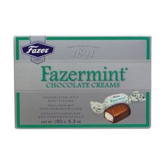 Fazermint Chocolate Creams Box - oz Fazermints are a refreshing peppermint filling covered in decadent dark Fazer chocolate is the perfect way to treat yourself or loved ones. Fazer Fazermint chocolate is made from fresh milk and high qu. Finnish Words, Coffee Candy, Fresh Milk, First Love, My Love, Nordic Christmas, Chocolate Cream, Finland, Peppermint