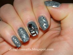 Delight in Nails: 10 Day Holiday Nail Art Challenge: Day 6 - Holiday Movie