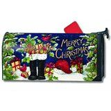 Mailwraps Santa's Boots Magnetic Mailbox Cover