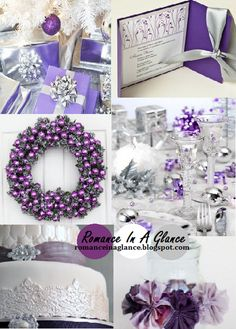 purple and white