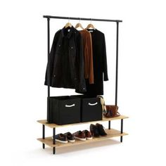 Portique à vêtements Mini Dressing, Dressing Room, Industrial Coat Rack, Industrial Style, Home Furnishing Accessories, Home Furnishings, Coat And Shoe Rack, Style Brut, Structure Metal