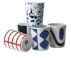 Mugs by Swedish Tiogruppen / Ten Swedish Designers.