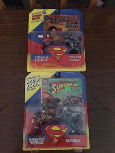 I have for sale a lot of 2 exclusive DC Comics (1995) action figure sets. They are made by Kenner.1.) Cyber-Link Superman and Cyber-link Batman2.) Hun... #books #included #comic #comics #batman #doomsday #superman
