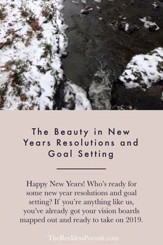 With the ring of a new year, #newyearresolutions and #goalsetting can seem daunting at times. But did you know there is beauty in a new year? Life changes and so do we. Our goals are no different! #therecklesspursuit