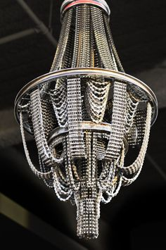 PURE BEAUTY chandeliers made of used bicycle chains by Carolina Fontoura Alzaga