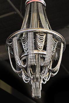 PURE BEAUTY  chandeliers made of used bicycle chains by Carolina Fontoura Alzaga