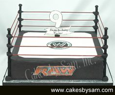WWE Raw Wrestling Cake
