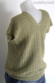 Op de valreep: Gehaakte zomertrui met korte mouw – Cuddlycool Crochet Shawl, Crochet Top, Knitting Patterns, Crochet Patterns, Shrugs And Boleros, Learn To Crochet, Crochet Clothes, Stitch, Clothes For Women