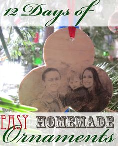 Christmas ornament - Photo on Wood Block