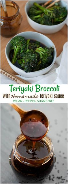 Teriyaki Broccoli in Homemade Vegan Teriyaki Sauce! This delicious and easy recipe will convert the biggest broccoli haters!