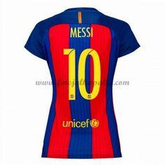 Jalkapallo Peliasut Naisten Barcelona 2016-17 Messi 10 Kotipaita