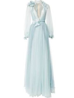 billowing floral detail gown