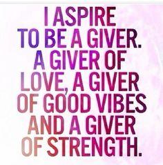 I aspire
