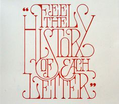 typography / Feel the history of each letter